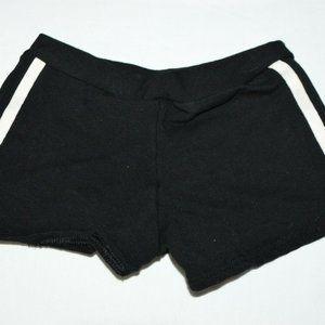 Pizzazz White Black Cheer Athletic Shorts Elastic